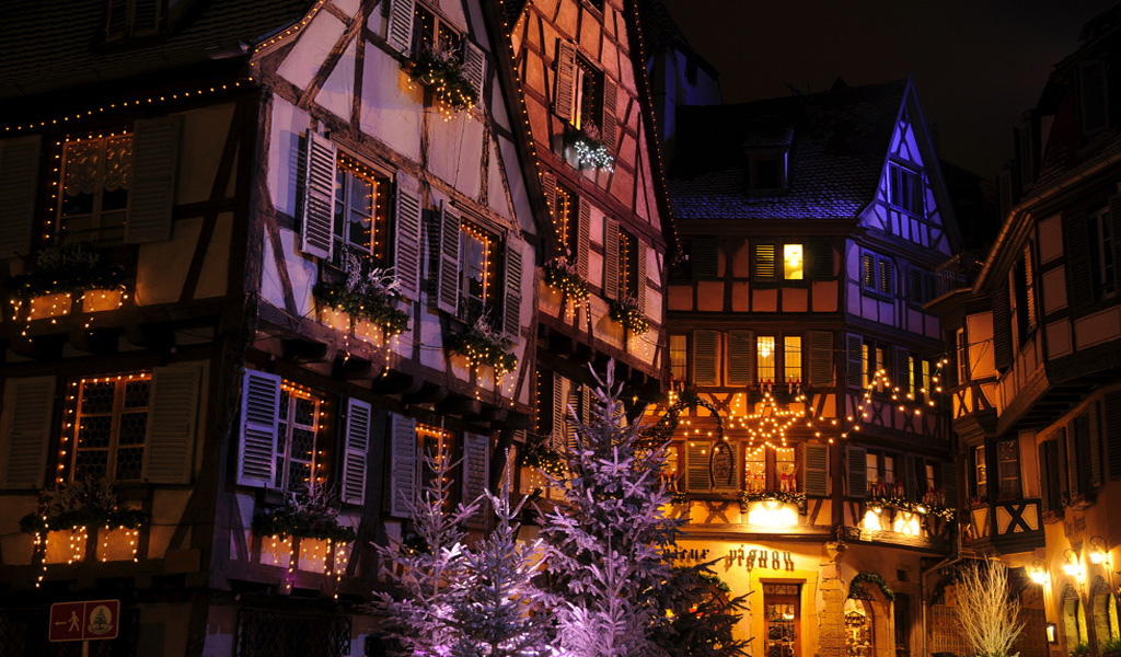 Christmas lights in Alsace