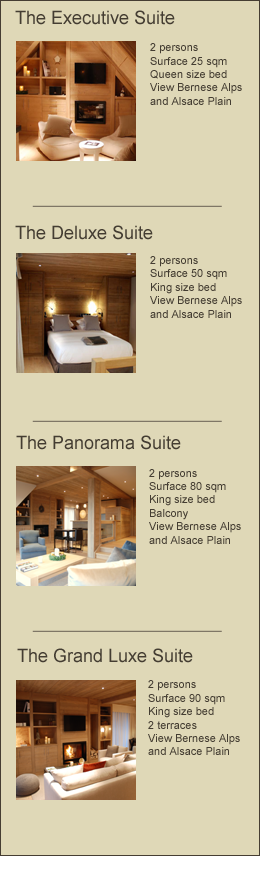 The luxury suites of our exclusive boutique hotel near Colmar