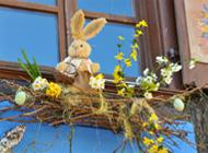 Façades de Pâques décorées à Colmar