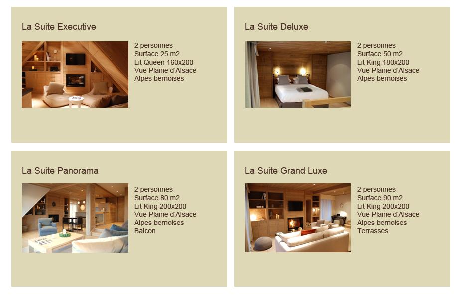 Les suites luxueuses de notre boutique hotel 5 étoiles à Colmar